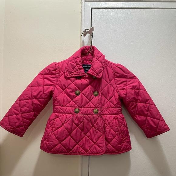 RALPH LAUREN Pink Quilted Girls Jacket Size 2T